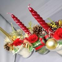 クリスマス仕様のプリザーブドフラワー